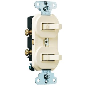 Legrand 15-Amp Light Almond Combination Light Switch