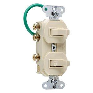 Legrand 15-Amp Ivory Combination Light Switch