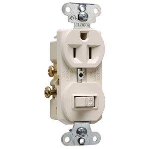 Pass & Seymour/Legrand 15-Amp Light Almond 3-Way Light Switch