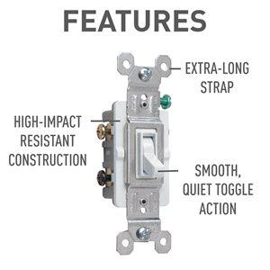 Legrand 7 15 Amp White 3-Way Light Switch