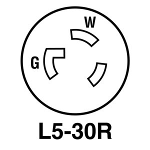 Legrand 30-Amp 125-Volt Black 3-Wire Grounding Connector