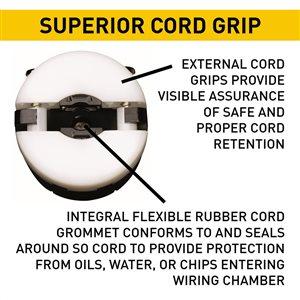 Legrand 20-Amp 125-Volt Black 3-Wire Grounding Plug