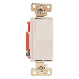 Pass & Seymour/Legrand 20-Amp Light Almond Decorator Light Switch