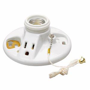 Legrand 60-Watt White Ceiling Socket