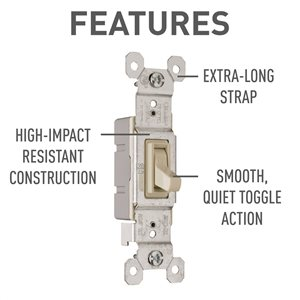 Legrand 15 Amp White Light Switch (10 pack)