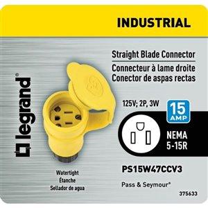 Legrand PS15W-47CCV3 3-Wire Watertight Connector