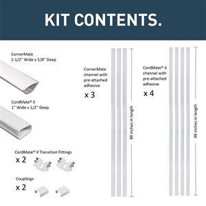 Legrand Home Entertainment Cord Cover Kit