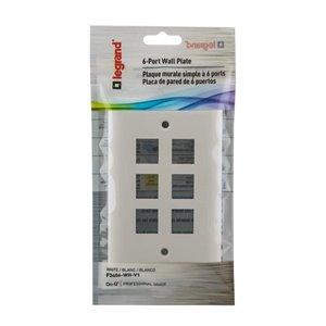 On-Q/Legrand Keystone 1-Gang White Blank Plastic Wall Plate