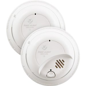 First Alert Hardwired 120-Volt Ionization Smoke Alarm with Battery-Up (2-Pack)