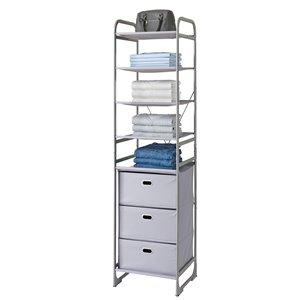 neatfreak Modular Tower 4 Shelf + 3 Drawers