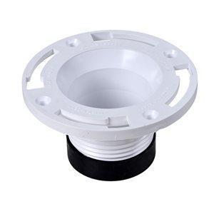 Oatey 4 In. Twist-N-Set PVC Toilet Bowl Flange