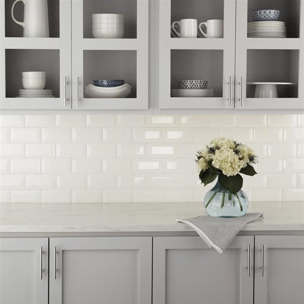 American Olean Starting Line Gloss White Glazed Ceramic Wall Subway Tile Common 3 In X 6 In Actual 3 In X 6 In Lowe S Canada