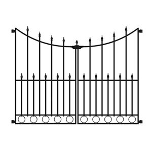 No Dig Grand Empire Steel Decorative Metal Fence Gate