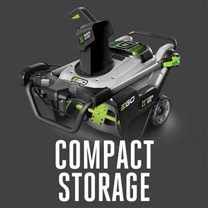 EGO POWER+ 56V 21-in Snow/Leaf Blower w/ Peak Power™, 35-ft throwing distance, Foldable (2x5.0Ah Batteries and Rapid Charger)
