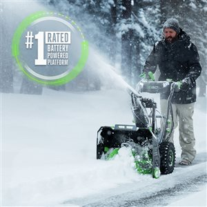 EGO POWER+ 56V 24-in Self-Propelled 2-Stage Snow Blower with Peak Power™ (2x7.5 ARC Lithium™ Batteries and Dual-Port Charger)