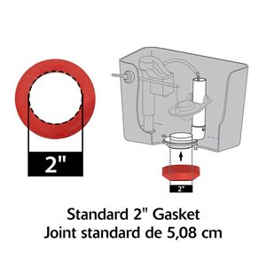 Korky Korky 2 -in Toilet Tank to Bowl Gasket and Hardware Kit