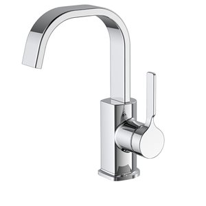 allen + roth 1-Handle Single Hole/4-in Centerset Bathroom Sink Faucet Drain Included