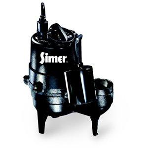 Simer 1/2 HP Submersible Sewage Sump Pump