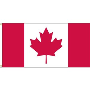 FLAGS UNLIMITED Flags Unlimited CAN036GK 18inch x 36inch DuraKnit Grommet Canadian Flag