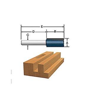 Bosch 5/8-in x 3/4-in Carbide-Tipped 2-Flute Straight Bit
