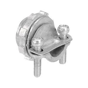 Iberville Fitting, Two Screw, Trade Size 3/8 In, Clamping Range 0.18 In-0.64 In, Width 1-1/16 In, Zinc Alloy