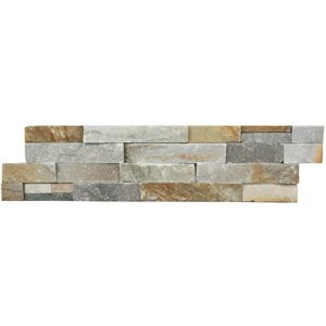 Avenzo 24-in x 6-in Beige Natural Slate Stone Split Face Wall Tile (6-Pack)