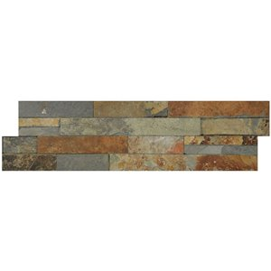 Avenzo 24-in x 6-in Forest Brown Stone Split Face  Wall Tile (6-Pack)