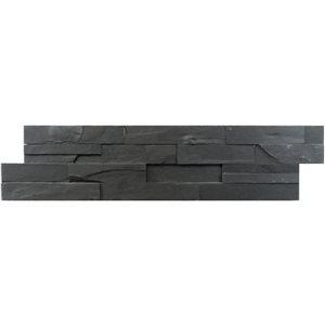 Avenzo 24-in x 6-in Black Natural Slate Stone Split Face Wall Tile (6-Pack)