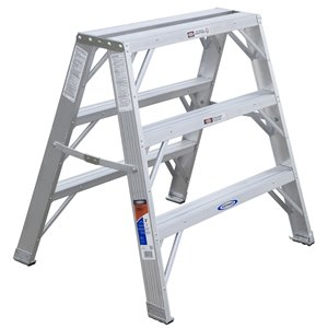 Werner 3-ft Type 1A - 300 lbs. Capacity Aluminum Twin-Step Ladder