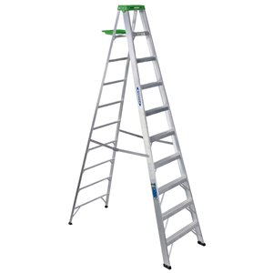 Werner 10-ft Type 2 - 225 lbs. Capacity Aluminum Step Ladder