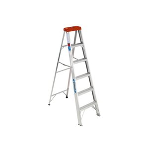 Werner 6-ft Type 2 - 200 lbs. Capacity Aluminum Step Ladder