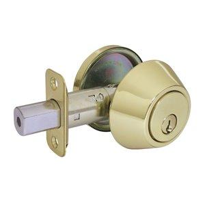 Gatehouse Single-Cylinder Deadbolt (Polished Brass)