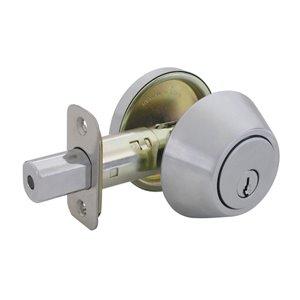 Gatehouse Single-Cylinder Deadbolt (Satin Stainless Steel)
