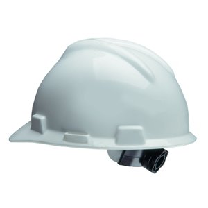 Safety Works White Hard Hat with Ratchet Suspension