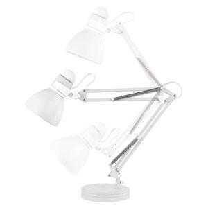 Globe Electric Architect 28 In. Matte White Swing Arm Desk Lamp