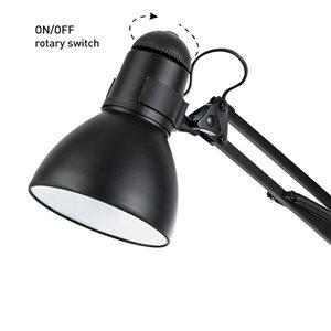 Globe Electric 28 In. Heavy Base Architect Black Swing Arm Desk Lamp