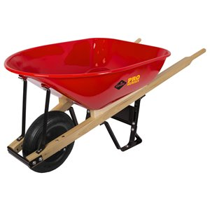 True Temper Garant Pro Series Heavy-Duty Steel Wheelbarrow