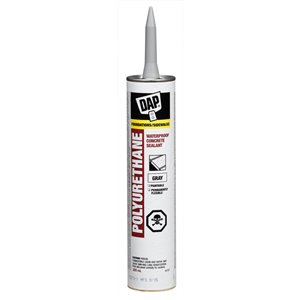 DAP 10 oz Construction Adhesive300ml Polyurethane Waterproof Foundation/Sidewalk Specialty Caulk