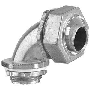 Iberville 90-Degree Liquid-Tight Zinc Alloy Connector