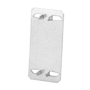 Iberville Plate, Wood Stud Protector, Size 1-3/8 In x 3 In, Galvanized Steel Pack of 4