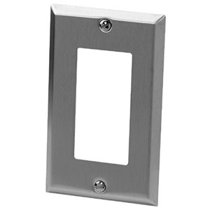 Iberville 1-Gang GFCI Wall Plate (Stainless Steel)