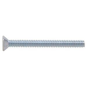 #14-20 Zinc-Plated Flat-Head Square Standard (SAE) Machine Screws