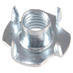 Hillman #10-32 Zinc Plated 4-Prong Tee Nuts (2-Pack)