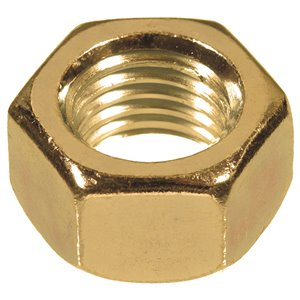 Hillman #6-32 Brass Standard (SAE) Hex Nuts (4-Pack)
