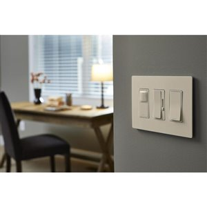Legrand radiant 1-Switch 15-amp Single pole Light almond Rocker Light switch
