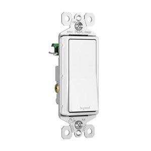 Legrand TradeMaster 15-Amp 120-volt Single Pole White Decorator Switch