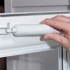 Comfort-Bilt Villager White High-View Tempered Glass Standard Half Screen Storm Door (Common: 34-in x 81-in; Actual: 33.75-in x 79.875-in)