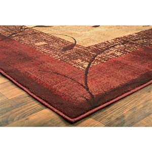 allen + roth Red (Common:; Actual: 5.25-ft W x 7.5-ft L)