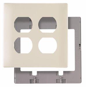 Pass & Seymour/Legrand 1-Gang Jumbo Screwless Duplex Receptacle Wall Plate (Light Almond)