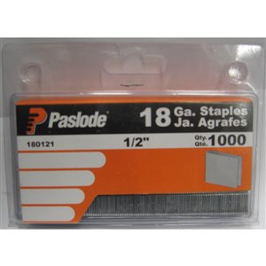 Paslode 1/2-in 18-Gauge Pneumatic Finish Staples (1,000-Count)